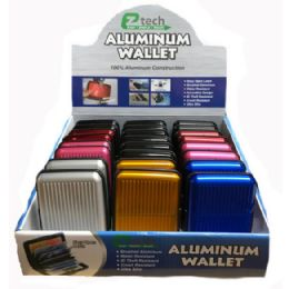 24 Units of Aluminum Wallet Solid Colors - Wallets & Handbags