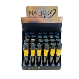 72 Units of Black Waterproof Mascara Black with Gold Tube - Eye Shadow & Mascara