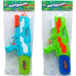 "12 Units of 18.5"" Water Gun W/ Pump Actn In Poly Bag W/header, 2 Asst - Water Guns"