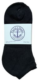 240 Units of Yacht & Smith Women's Cotton No Show Ankle Socks Black Size 9-11 Bulk Pack - Women's Socks for Homeless and Charity