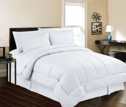 3 Units of 8 Piece Embossed Stripe Bed in a Bag King Size In White - Comforters & Bed Sets