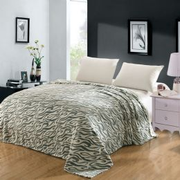 12 Units of Cameo Microplush Blanket Queen Size Assorted In Assorted Styles - Comforters & Bed Sets