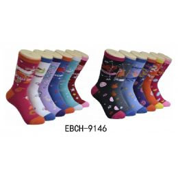 360 Units of Ladies Zodiac Crew Socks Size 9-11 - Womens Crew Sock