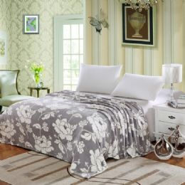 12 Units of Madison Microplush Blanket In Full Size Floral Assorted Color - Comforters & Bed Sets