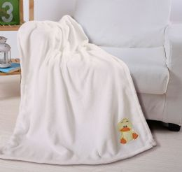 36 Units of Embriodery Baby Blanket In Cream - Comforters & Bed Sets
