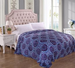 12 Units of Jessica Printed Microplush Blanket King Size In Assorted Style - Comforters & Bed Sets