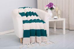 6 Units of Vintage 50 X 60 Throw In Teal - Fleece & Sherpa Blankets