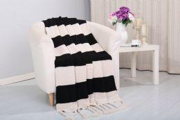6 Units of Vintage 50 X 60 Throw In Black - Fleece & Sherpa Blankets