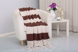 6 Units of Vintage 50 X 60 Throw In Chocolate - Fleece & Sherpa Blankets