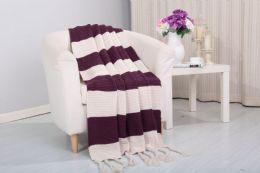 6 Units of Vintage 50 X 60 Throw In Purple - Fleece & Sherpa Blankets