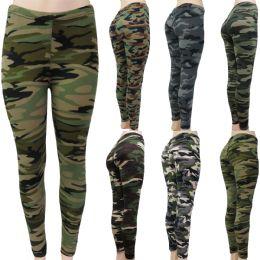 48 Units of Women Butter Soft Full Length Camouflage Leggings - Womens Leggings