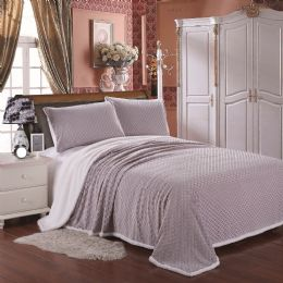 4 Units of Luxurious Soft Mermaid Sherpa Blanket In King Size Color Grey - Fleece & Sherpa Blankets