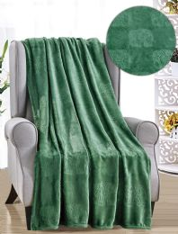 12 Units of Elephant French Collection Assorted Throws - Fleece & Sherpa Blankets
