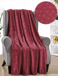 12 Units of Louvre French Collection Assorted Throws - Fleece & Sherpa Blankets