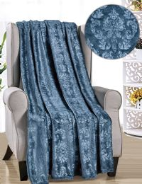 12 Units of Versaille Collection Assorted Throws - Fleece & Sherpa Blankets
