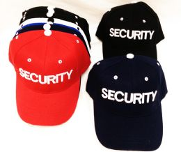 36 Units of Security Baseball Hats Caps Assorted Colors - Baseball Caps & Snap Backs