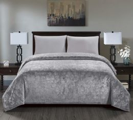 6 Units of Versaille Collection Embossed Blanket Assorted Queen Size - Fleece & Sherpa Blankets