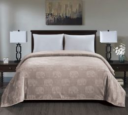 6 Units of Zebra Collection Queen Size Blankets In Ivory - Fleece & Sherpa Blankets