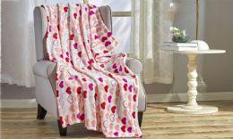 24 Units of Isabella 50 x 60 Valentine Throw - Micro Plush Blankets