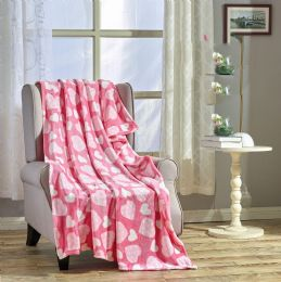 24 Units of Jasmin 50 X 60 Valentine Throw - Micro Plush Blankets