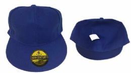36 Units of Royal Blue Fitted Hat Assorted Size - Baseball Caps & Snap Backs