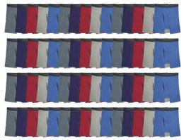 72 Units of Mens Slight Irregular Boxer Briefs Underwear, 100% Cotton, Wholesale Bulk Lot Assortment, Assorted Sizes - Mens Underwear
