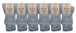 12 Units of Yacht & Smith Unisex Kids Merino Wool Thermal Hiking Camping Socks , Size 6-8 - Boys Crew Sock