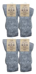 4 Units of Yacht & Smith Unisex Kids Merino Wool Thermal Hiking Camping Socks , Size 6-8 - Boys Crew Sock