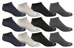 12 Units of Yacht & Smith Men's Light Weight Breathable No Show Loafer Ankle Socks Solid Assorted 4 Colors - Mens Ankle Sock