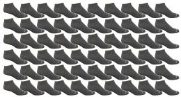 60 Units of Yacht & Smith Men's Light Weight Breathable No Show Loafer Ankle Socks Solid Charcoal Gray - Mens Ankle Sock