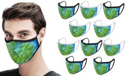 20 Units of Adult Reversible Tie Die Cloth Mask Black and White - PPE Mask