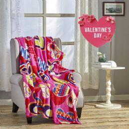 24 Units of Valentina 50 X 60 Valentine Throw - Micro Plush Blankets