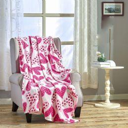 24 Units of Scarlet 50 X 60 Valentine Throw - Micro Plush Blankets