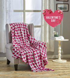 24 Units of Julliete 50 X 60 Valentine Throw - Micro Plush Blankets
