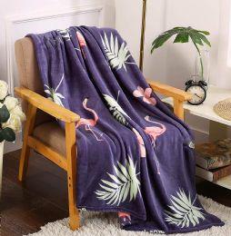 24 Units of Flamingo Tropical Throw - Micro Plush Blankets