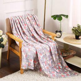 24 Units of Unicorn Kids Throw - Micro Plush Blankets