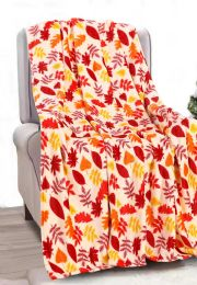 24 Units of Fall Autumn Thanksgiving Throw Design Micro Plush Throw Blanket 50x60 Multicolor - Micro Plush Blankets