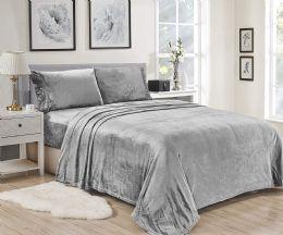 12 Units of Lavana Soft Brushed Microplush Bed Sheet Set King Size Assorted Color - Sheet Sets
