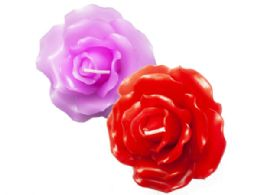 54 Units of Large Floating Rose Candle - Candles & Accessories
