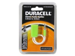 72 Units of duracell stereo audio splitter cable in green - Store