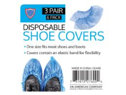 72 Units of 6 pack shoe covers (3 pairs) - Store