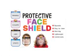48 Units of Childs Face Shield 4 Asst - Face Mask