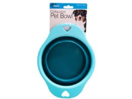 36 Units of collapsible pet bowl w/heart - Store