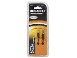 72 Units of duracell 10 ft black stereo audio cable - Store