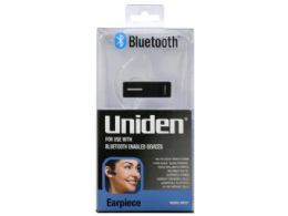 12 Units of uniden bluetooth earpiece in silver and black - Store