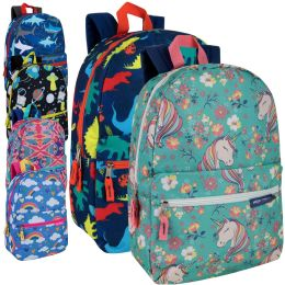 """24 Units of 17 Inch Backpacks Mix Girls And Boys Prints - Backpacks 17"""""""