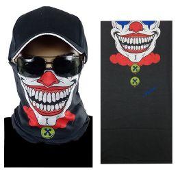 20 Units of Smiling Clown Multi Function Seamless Tube Bandana - Face Mask