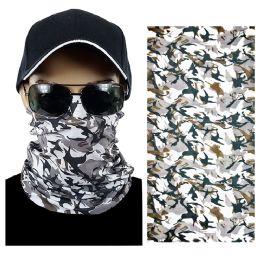 20 Units of Light Gray Camouflage Multi Function Seamless Tube Bandana - Face Mask