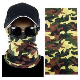 20 Units of Camouflage Multi Function Seamless Tube Bandana - Face Mask
