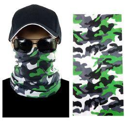 20 Units of Gray Camouflage Multi Function Seamless Tube Bandana - Face Mask
